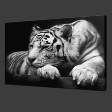 Not Framed Canvas Print Painting Modern Wall Art Animal Black and White Tiger Home Decoration Wall Decal(China (Mainland))