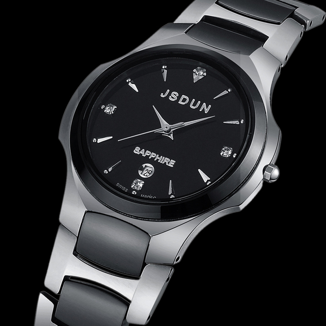 Watch tungsten ceramic quartz watch fashion wristwatch luxury wristwatch male watch