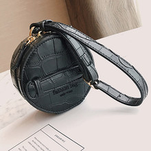 XMESSUN 女性ミニサークルクラッチバッグワニパターン財布高級小さなリストレット女性クレジットカード財布バッグ市平 H46(China)