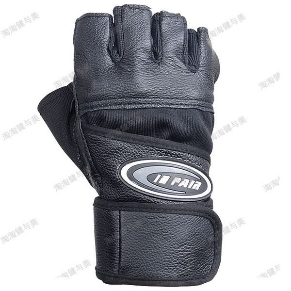 Gym Gloves Weight Lifting Leather Wrist Support Glove Aud: Gym Body Building Training Weight Lifting Leather Fitness