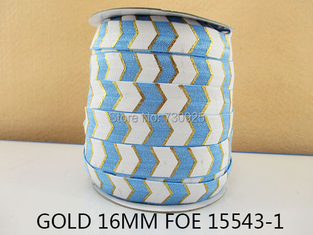 """5Y15543 free shipping 5/8"""" gold foe ribbon diy headwear hairbow craft sewing decoration accessories mini order $6(China (Mainland))"""