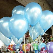 Balões De Látex preto 10 pcs 10 polegada Decorações Do Casamento De Látex Balão de Hélio Inflável Bolas de Ar Balões De Festa Feliz Aniversário(China)