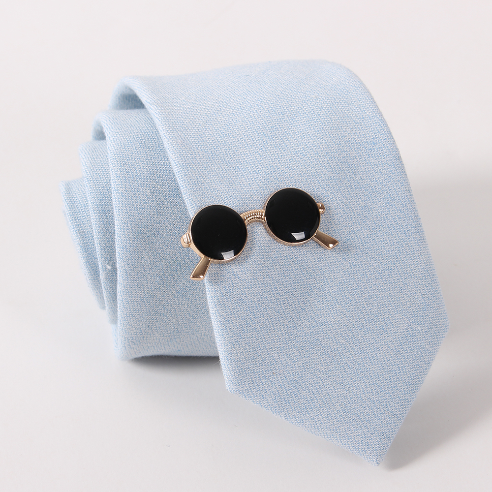 Fashion Men Tie Clips of Gold Plated Glasses Shape Tie Bars Exquisite Wedding Glasses Tie Clips for Ties Men Fashion Jewelry(China (Mainland))