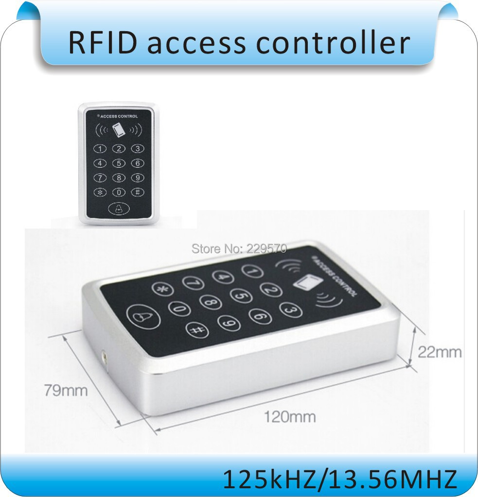 Free shipping RFID proximity 125Khz ID card door Standalone Touch screen Single door access controller system +10pcs card<br><br>Aliexpress