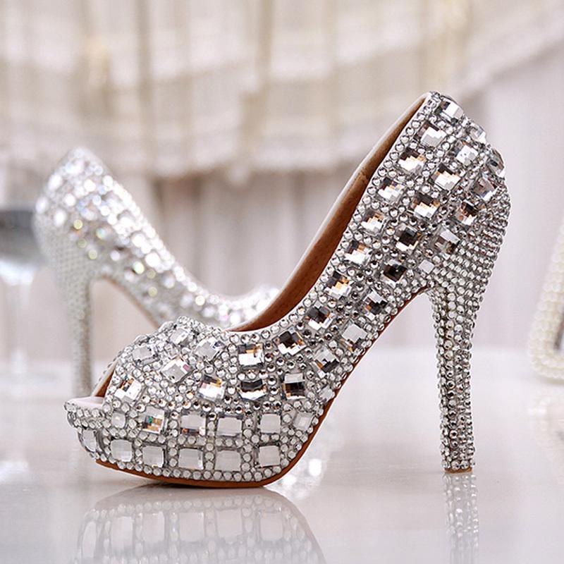 free shipping peep toe summer high heel wedding