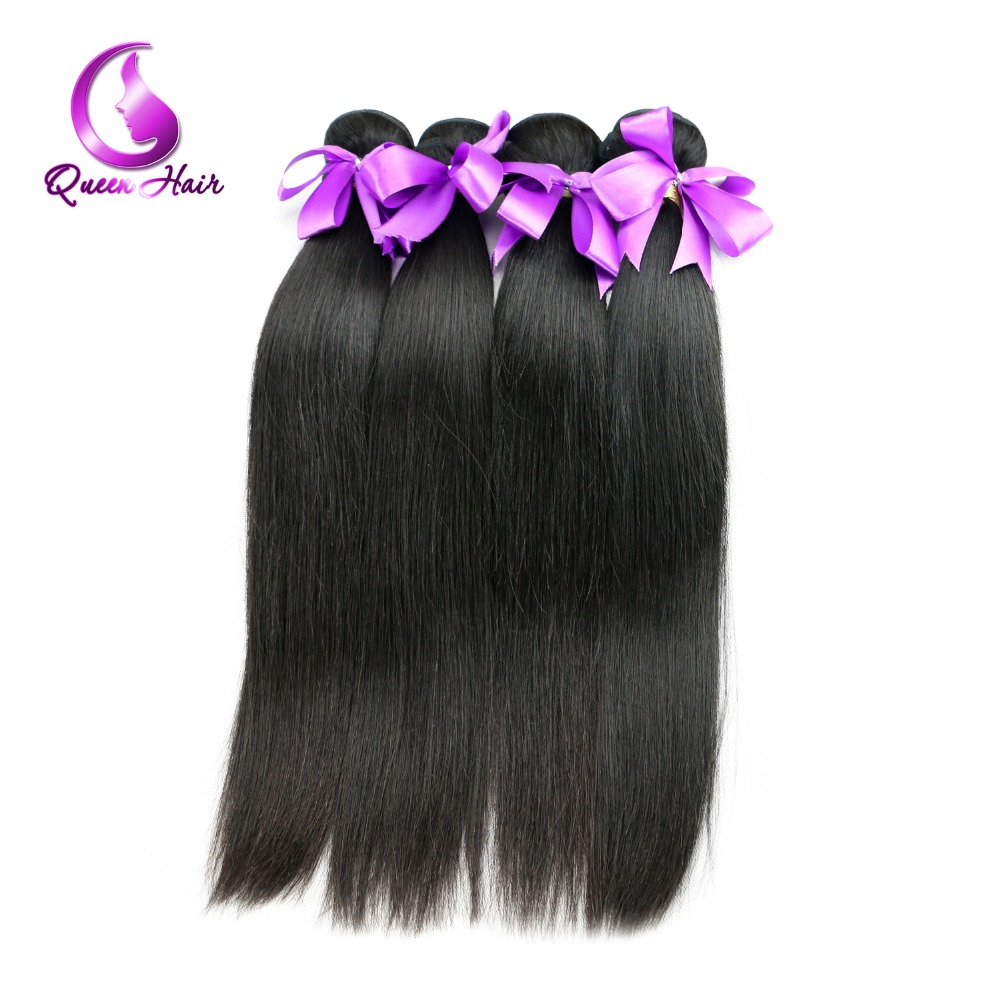 Queen Hair Products 6A Unprocessed Malaysian Straight Hair Bundles 4pcs lot Natural Human Hair Extension 100grams No Tangle<br><br>Aliexpress