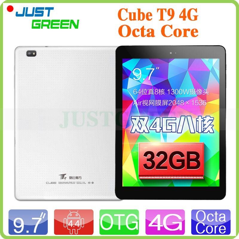 "9.7"" Air Retina Screen Cube T9 4G LTE Phone Call Tablet PC MTK8752 Octa Core 2.0GHz Android 4.4 OS 2GB RAM 32GB ROM 13MP GPS OTG(China (Mainland))"