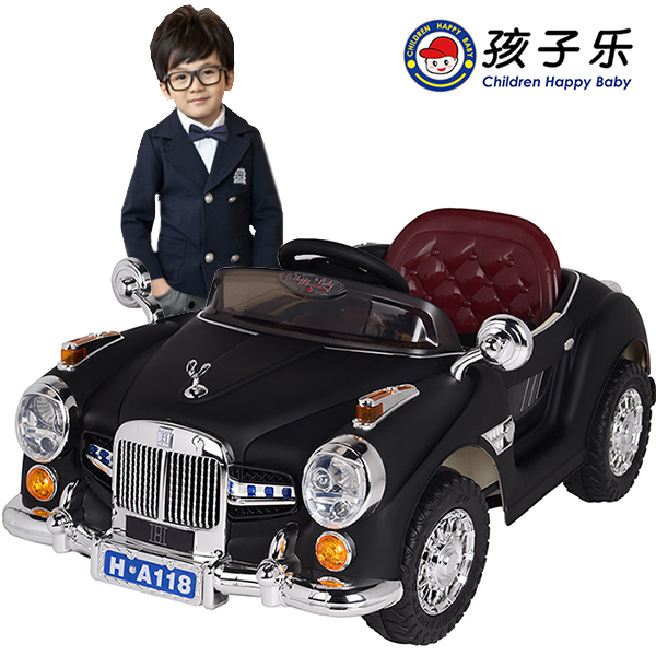 Child electric bicycle double door belt four wheel toy car remote control stroller webworm - Online Store 237016 store