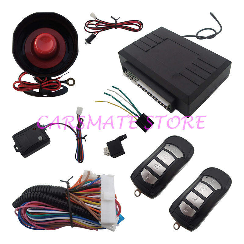 Stock In USA! Universal 1-Way Car Alarm Protection Security System Keyless Entry & Two 4-Buttons Remote Controls(China (Mainland))