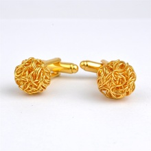 New Charm Accessories Golden or Silver Simple Twisted Ball Mens Shirt Cufflinks Laser Plating Cuff link Gift Cuff Button gemelos
