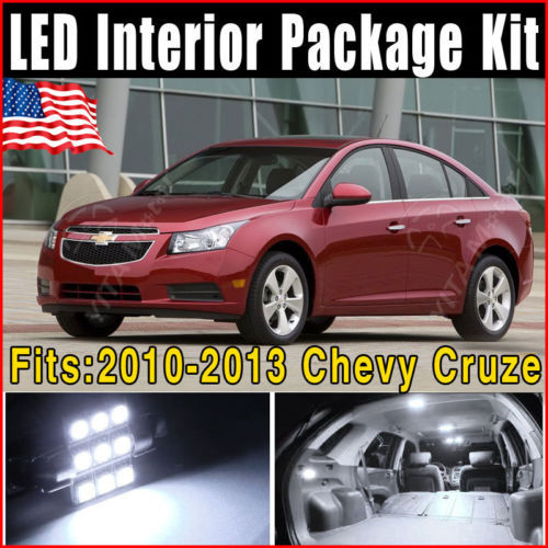 """12pcs Pure White SMD Interior LED Light Package Kit 2011 and up for Chevy Cruze T10 W5W Festoon 31mm 1.25"""" Bulb LED for Car -E(China (Mainland))"""