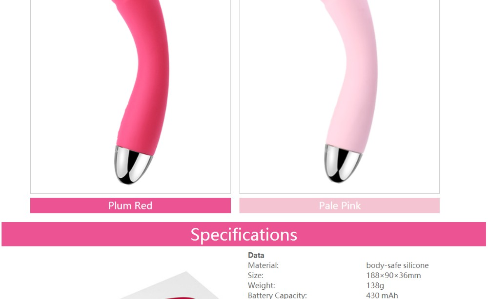 Sex Toys Ultra Soft Silicone Vibrator for G-spot 03