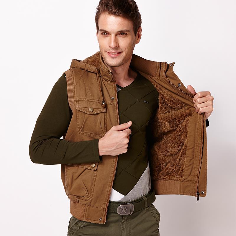 mens hooded vest for mens vest pattern plus cotton autumn