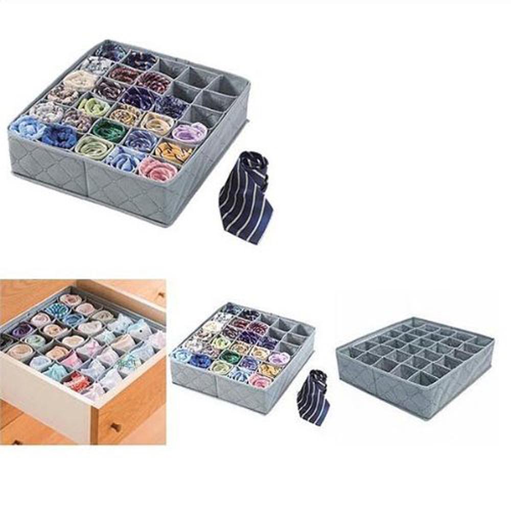 USA Delivery 30 Cell Bamboo Charcoal Underwear Bar Ties Socks Drawer Closet Organizer Storage Box(China (Mainland))