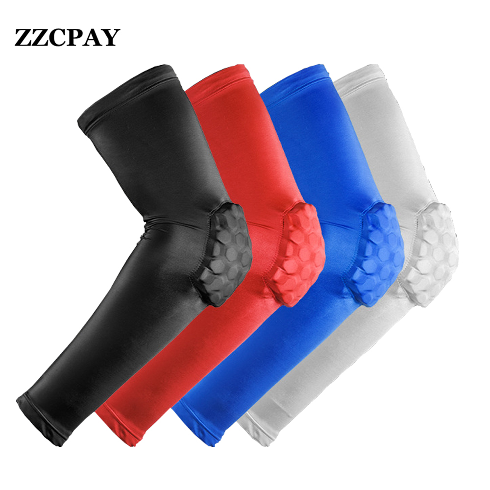 1PCS Elastic Gym Sport Basketball Arm Sleeve Shooting Crashproof Honeycomb Elbow Support Pads Elbow Protector Guard Sport Safety(China (Mainland))