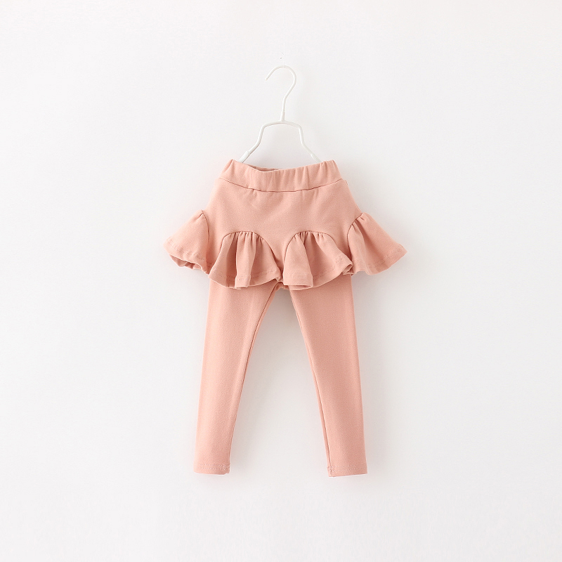 Baby Girls Autumn Leggings Casual Solid Full Length  For New Cotton Ruffles Straight Wear Children Clothing 5pcs/ LOT<br><br>Aliexpress