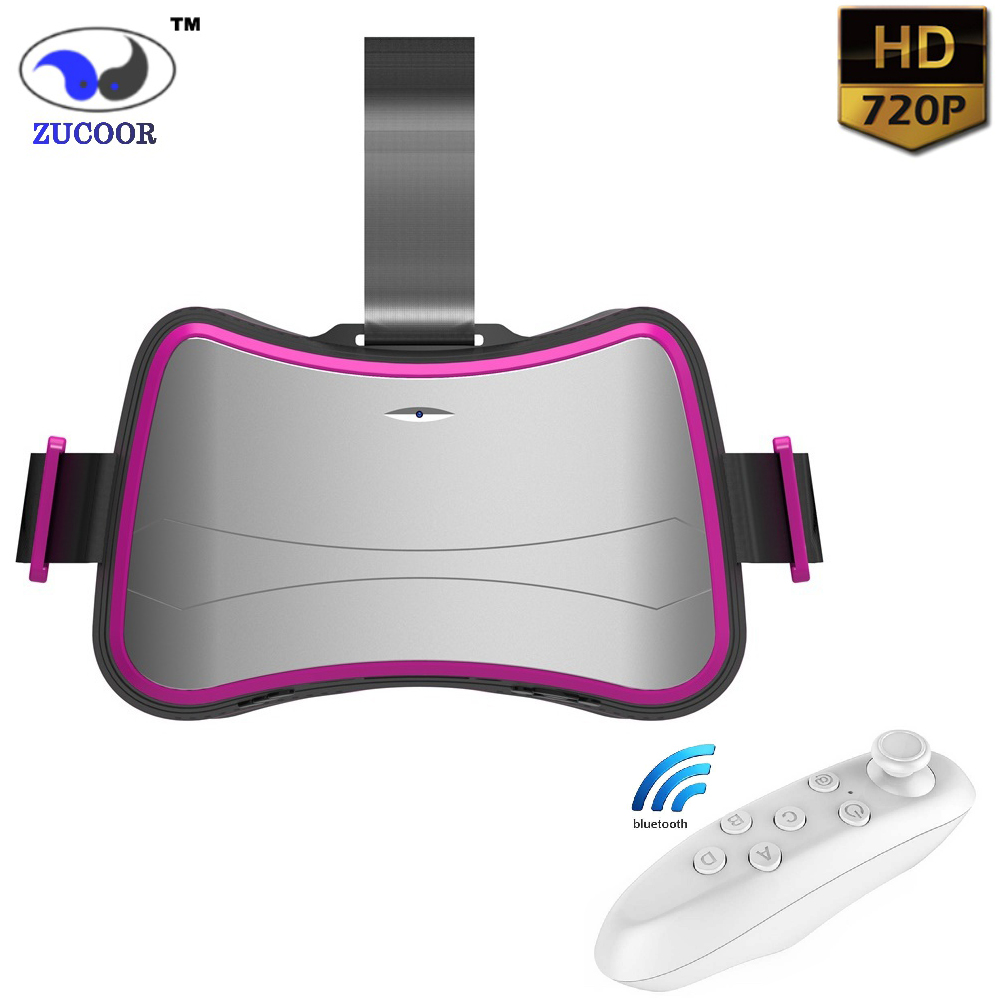 "3D Glasses VR Box All-In-One Virtual Reality Binocular 5"" IPS LCD Display Google Cardboard WiFi TF Card Video Movie Game Helmet(China (Mainland))"