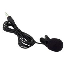 1pc 30Hz~15000Hz 3.5mm Hands Free Clip On Mini Lapel Microphone for Phone MP3/MP4 PC Laptop Tablet Skype MSN