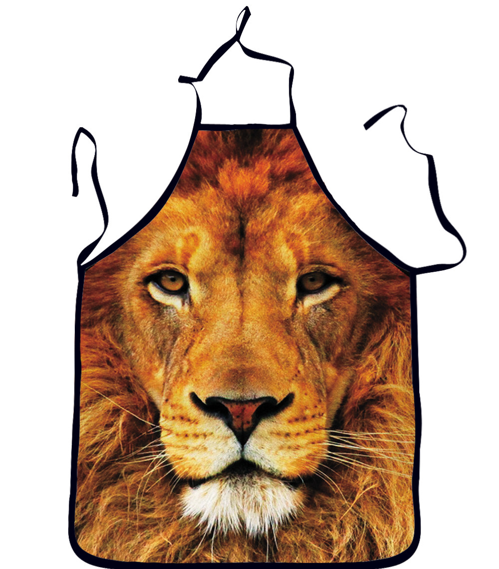 2015 New Brand Animal Cat lion pikachuprinted Apron Cleaning Aprons/Novelty Printed Apron Kitchen Cooking BBQ Apron(China (Mainland))