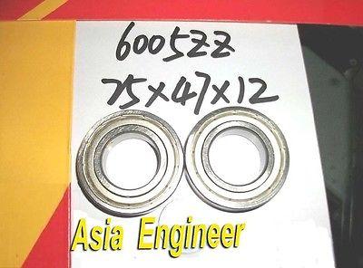 50Pcs 6005-2Z ZZ 6005ZZ Deep Groove Ball Bearing 25 x 47 x 12mm<br><br>Aliexpress