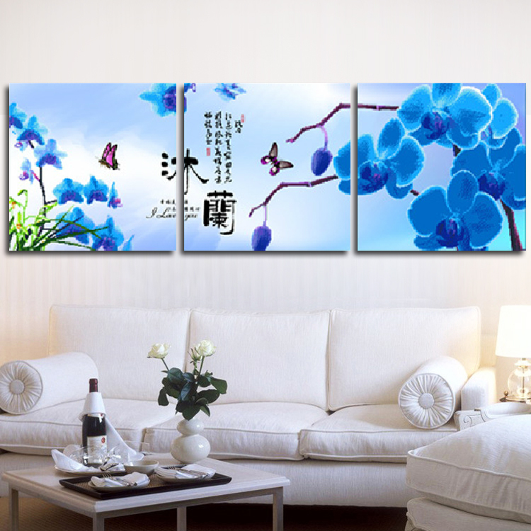 Гаджет  The latest 3D printing stitch substantial new triptych living Magnolia restaurant stitch flowers series None Изготовление под заказ
