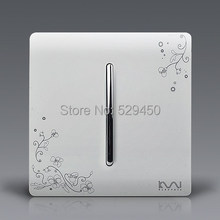 Free Shipping, Kempinski Brand Luxury Wall Switch, 1 Gang 1 Way, Ivory White, Brief Art Weave, Light Switch, AC 110~250V