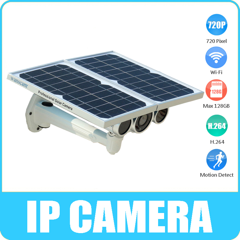 Wanscam Solar Power IP Camera star light sensor IR 80M 24ah rechargeable battery build in 16GB SD Card full charged standby 48H(China (Mainland))
