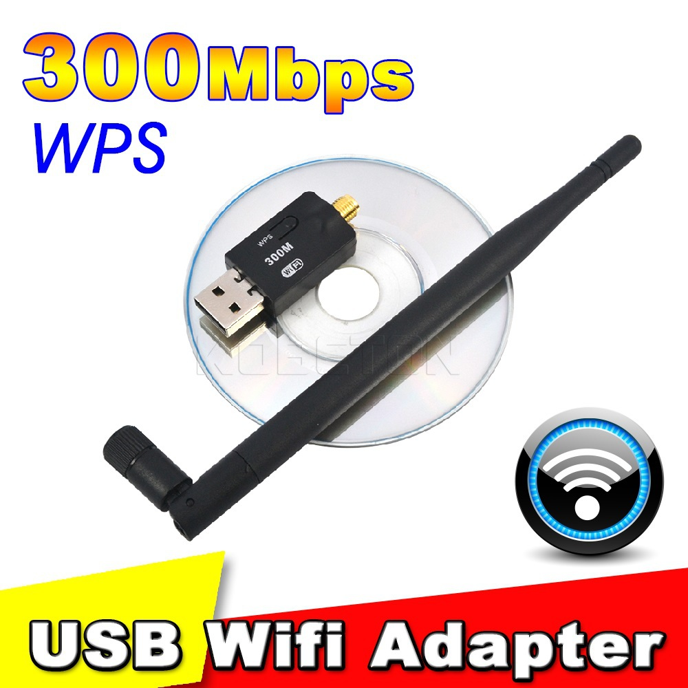 300 Mbps USB Wifi Adapter USB 2.0 Wireless 2.4GHz Network Lan Card Antenna For Windows XP/Vista/7 Linux for Mac OS X(China (Mainland))