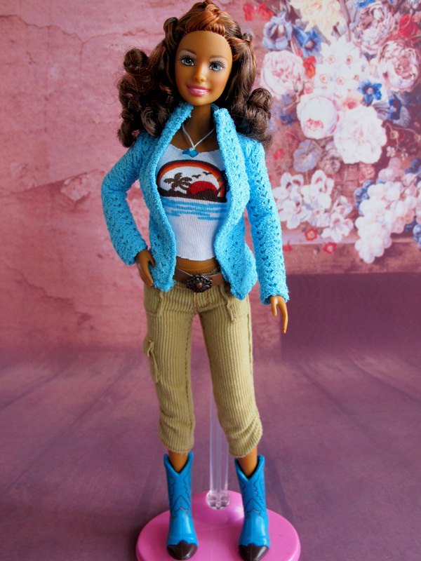 Free Shipping 2013 New Fashion Doll With Clothes and Shoes No Box Accessories For Barbie Doll