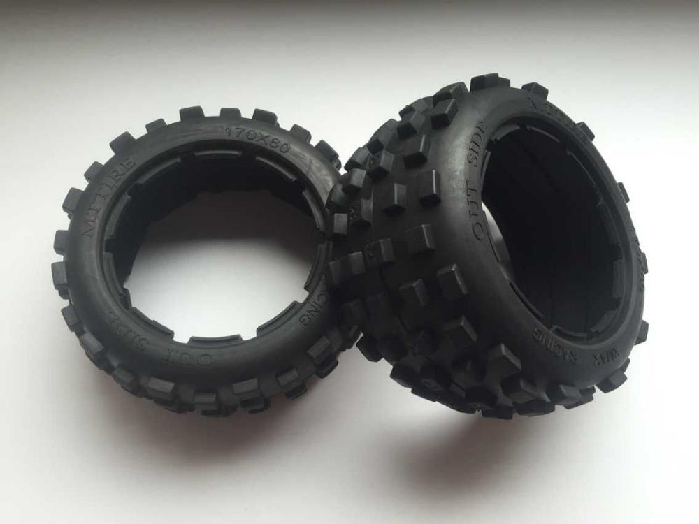 Baja 5B Rear knobby tire set (without inner foam) for 1/5 HPI Baja 5b ss Rovan Kingmotor car(China (Mainland))