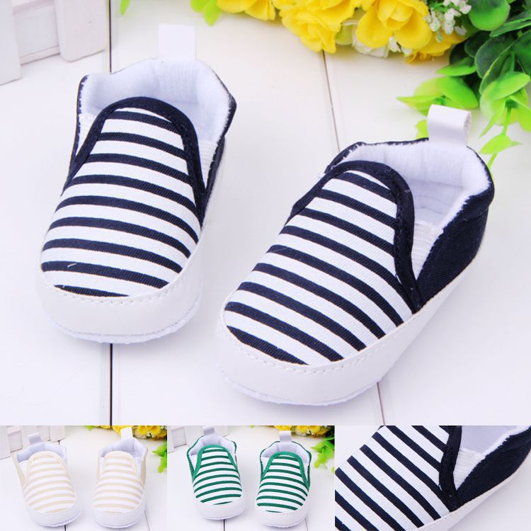 Fashion Spring&Autumn Baby Shoes Cool Striped Antiskid Toddlers Shoes Good quality Baby First Walkers Free & Drop Shipping