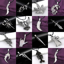 Buy 20 Styles Men Boy Stainless Steel Weapon Animal Plants Movie Pendant Necklace Leather Chain Fashion Jewelry Statement Choker for $1.02 in AliExpress store