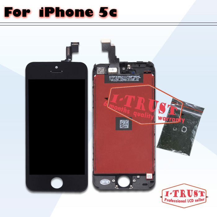 10 pcs lot Glass Touch Screen Digitizer & LCD Assembly Replacement For iPhone 5c & Free DHL