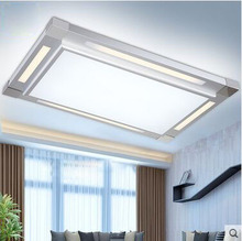 Modern minimalist living room, master bedroom, dining room, guest room, study atmosphere rectangle acrylic ceiling lamps(China (Mainland))