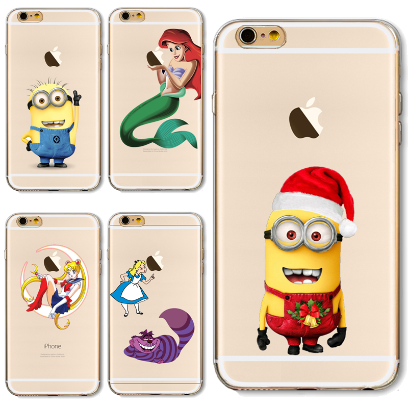 For iP7+ 5.5'' Soft TPU Cover For Apple iPhone 7Plus Case Cases Phone Funny Cartoon Character Exquisite Patterns Panic Buying(China (Mainland))