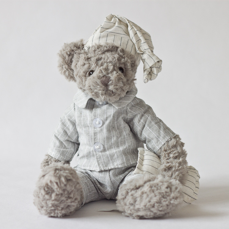 High Quality Lovers Valentine Teddy Bear Grey Soft Plush Stuffed Animals Ted Bear Chrismas Gift for Childeren Teddies Doll Toys(China (Mainland))