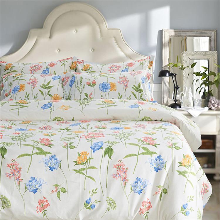 beige floral bedding set duvet cover sets full queen size 4 pcs reactive print floral bedding. Black Bedroom Furniture Sets. Home Design Ideas