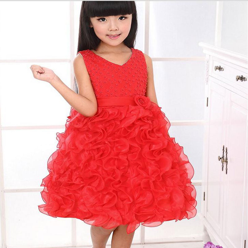 Wholesale 2015 New Style girls wedding dress girls princess dress party dress flowers dress size:90-150 14pcs/lot free DHL P-018<br><br>Aliexpress