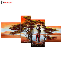 Buy huacan 5D DIY Diamond Painting Landscape Multi-pictures Rhinestone Pasted Mosaic Cross Stitch Diamond Embroidery Handmade Gifts for $21.56 in AliExpress store