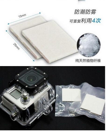 2015 Xiaomi Real Hot Sale Free Shipping Gopro Accessories Anti-fog Sheet 12 Piece Patch Hero 3