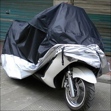 Motorcycle Rain Cover Dust Rain Sun Prevent Bask Waterproof black silver motorcycle covering High Quality CLSK(China (Mainland))