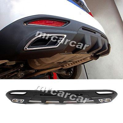 Rear Diffuser Bumper Lip Carbon Fiber Strip Fit For Hyundai Sonata 11-13 Black<br><br>Aliexpress