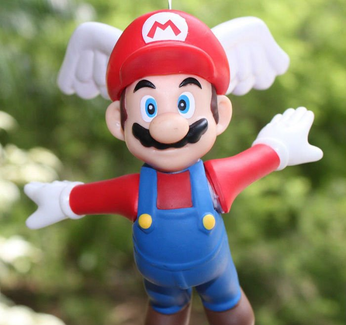 Super Mario bros Figure Doll Toys Mario Flying Strap PVC Anime Figurine13CM Height(China (Mainland))