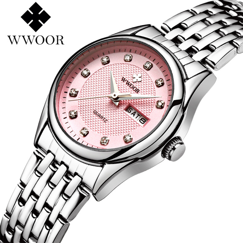 WWOOR Brand Women Watches Top Luxury Fashion Female Quartz Watch Ladies Casual WristWatch Hours Date Clock relogio feminino