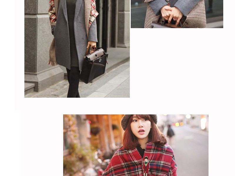 2016 new autumn and winter imitation wool long dual-use double-sided oversized scarf pashmina thick warm lattice ladies scarf