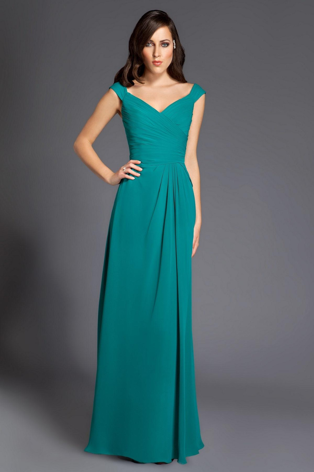 Luxury wedding dresses for young: Mint turquoise bridesmaid dresses