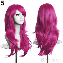 Women's Lady Long Hair Wig Curly Synthetic Anime Cosplay Party Full Wigs  4MZ1(China (Mainland))