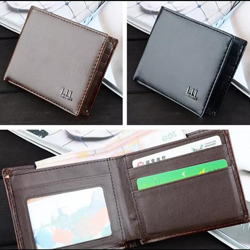 Men Business Leather Wallet Pocket Card Clutch Bifold Slim Purse Vogue(China (Mainland))