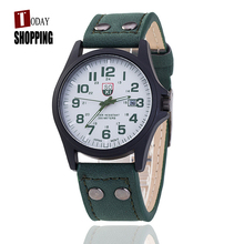 2016 Luxury Famous Brand Men Sports Quartz-Watch For Male Genuine Leather Business Complete Calendar Wristwatches Gifts Clock