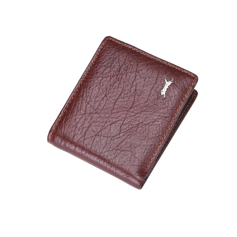 2015 Men's Genuine Cow Leather Wallet Fashion Purse Casual Purse Wallets for Men(China (Mainland))